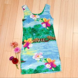 Vintage JAMS WORLD tropical luau dress, S.